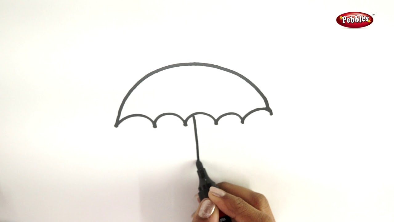 1280x720 Drawing Step By Step How To Draw An Umbrella Learn Drawing