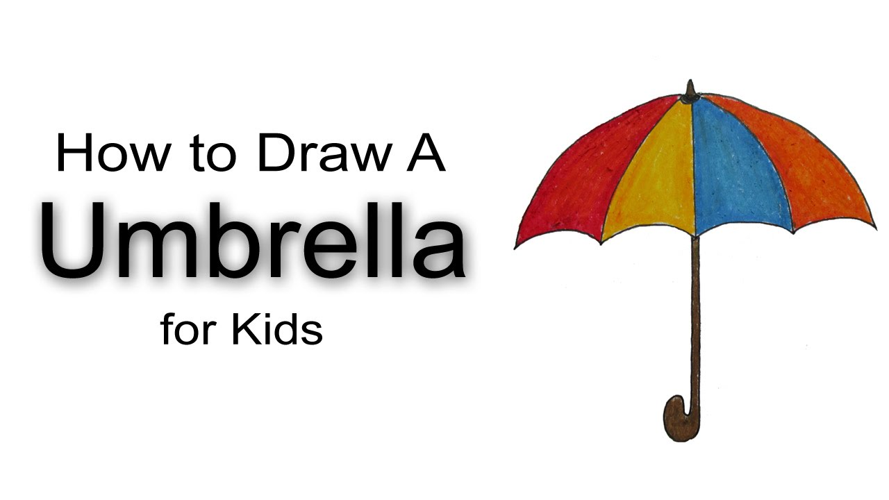 1280x720 How To Draw A Umbrella For Kids