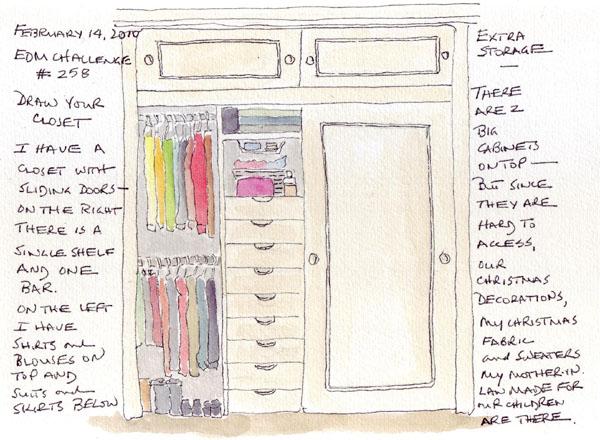 Captivating 600x440 Closet Drawing