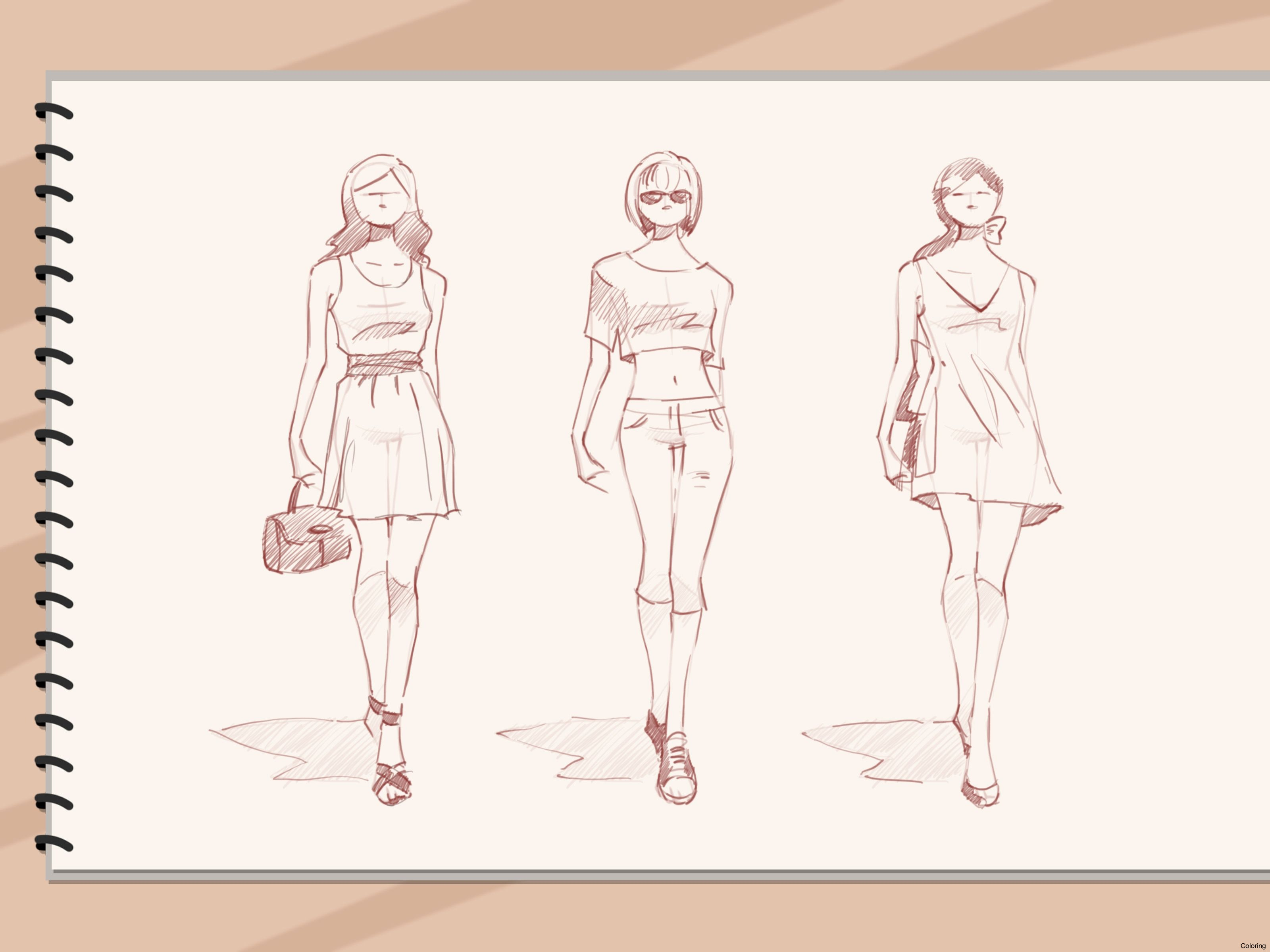 3200x2400 Draw Fashion Sketches Step 15 Version 2 How To Clothes By Coloring