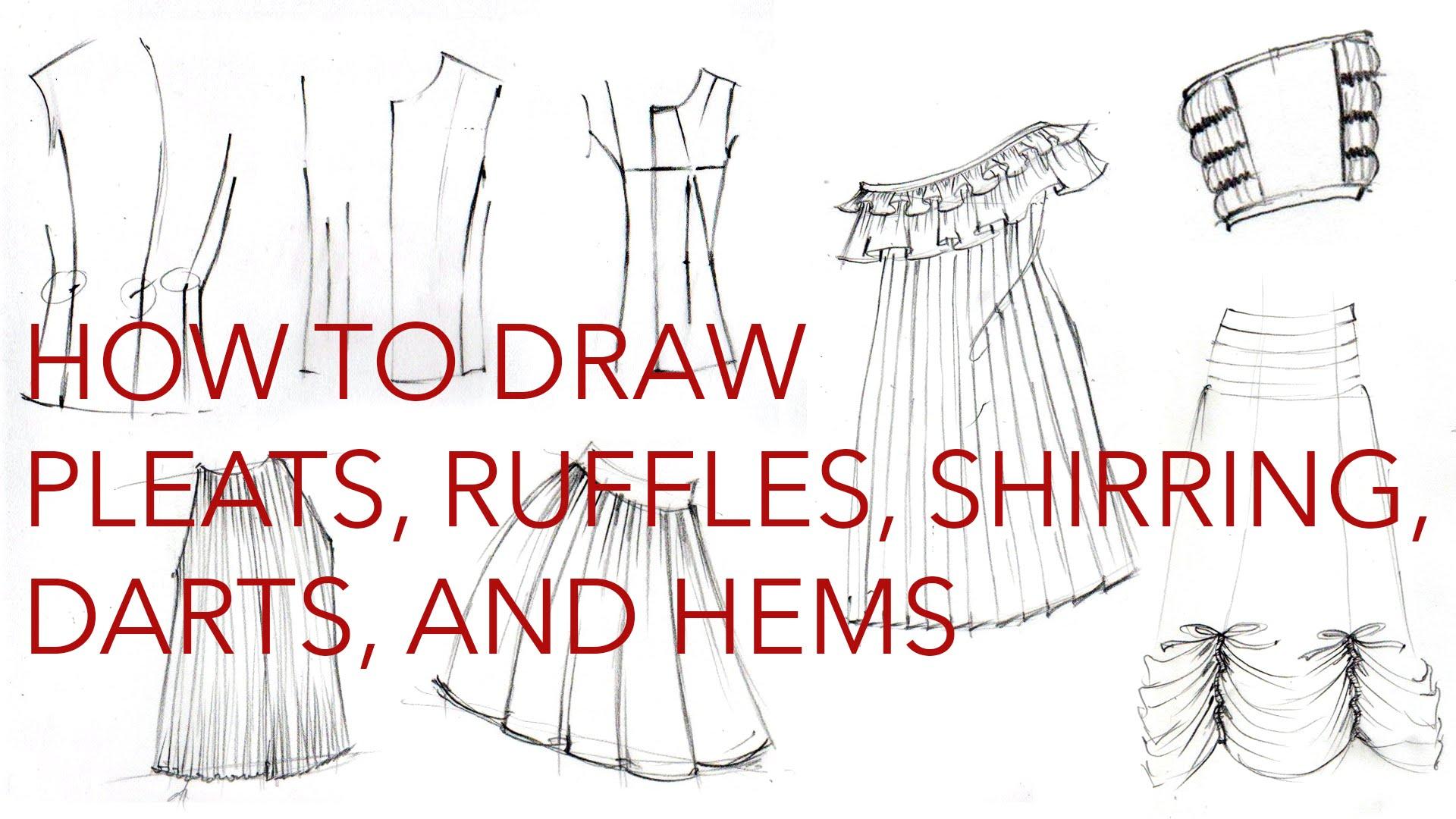 1920x1080 Drawing Clothes 3 Pleats, Ruffles, Hems, Darts