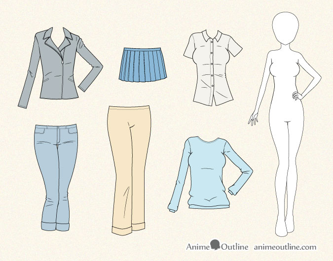 675x530 How To Draw Anime Clothes Anime Outline
