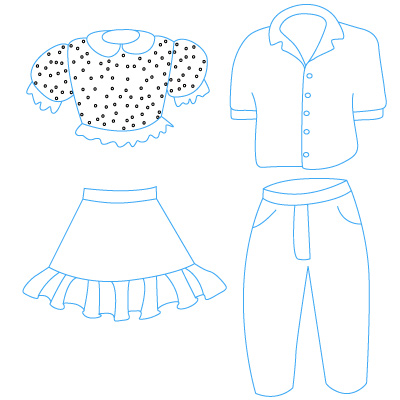 400x400 Want To Learn How To Draw Clothes Follow Our Simple Step By Step