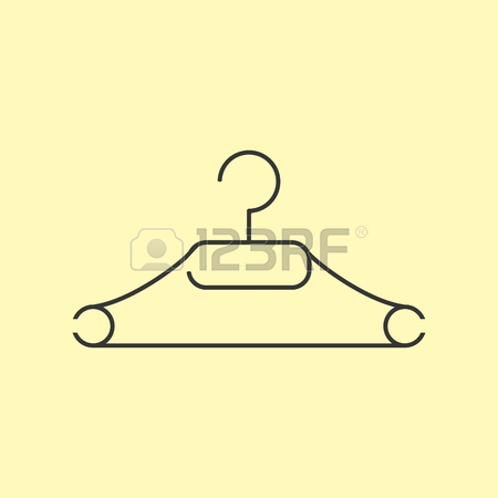 450x450 Clothes Hanger Icon. Dress Hanger. Vector Illustration Royalty