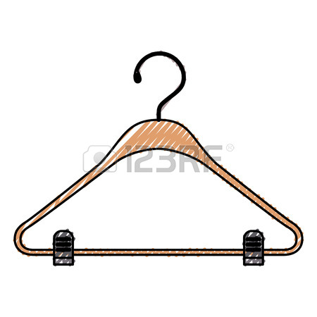 450x450 Colorful Silhouette Of Clothes Hanger Vector Illustration Royalty