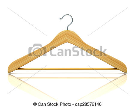 450x357 Wooden Clothes Hangers, 3d Render Isolated On White Drawing