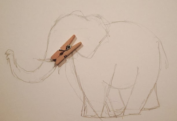 612x420 An Elephant A Day 2.0 Elephant No. 65 Clothespin Activated Mouth