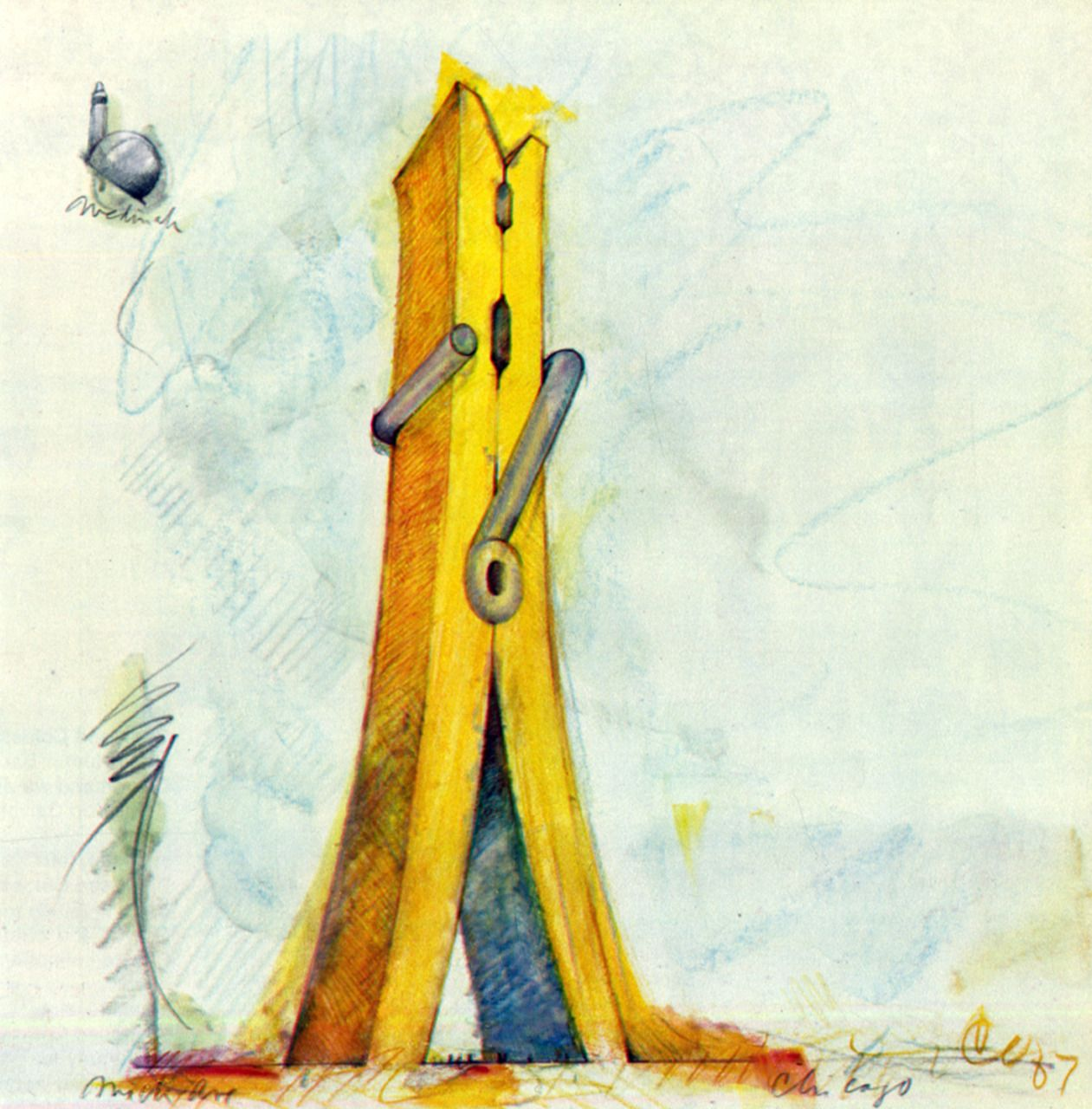 1261x1280 Image Result For Claes Oldenburg Clothespin Drawing Claes