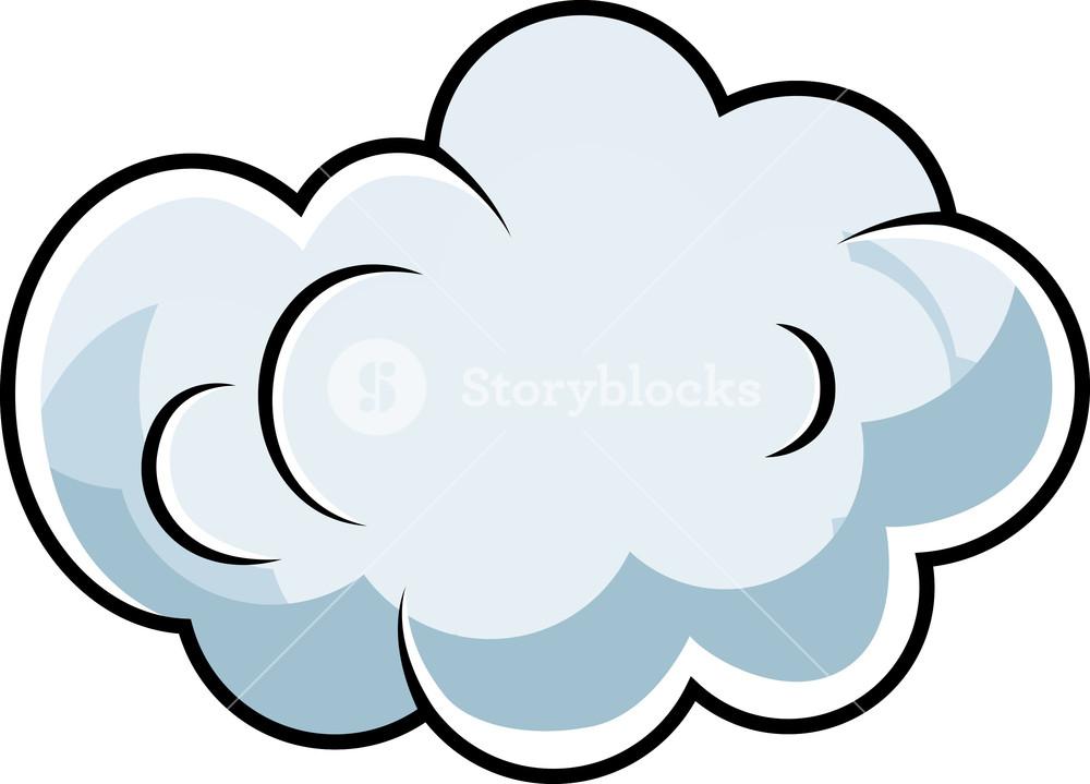 1000x719 Cute Comic Cloud Cartoon Vector Royalty Free Stock Image