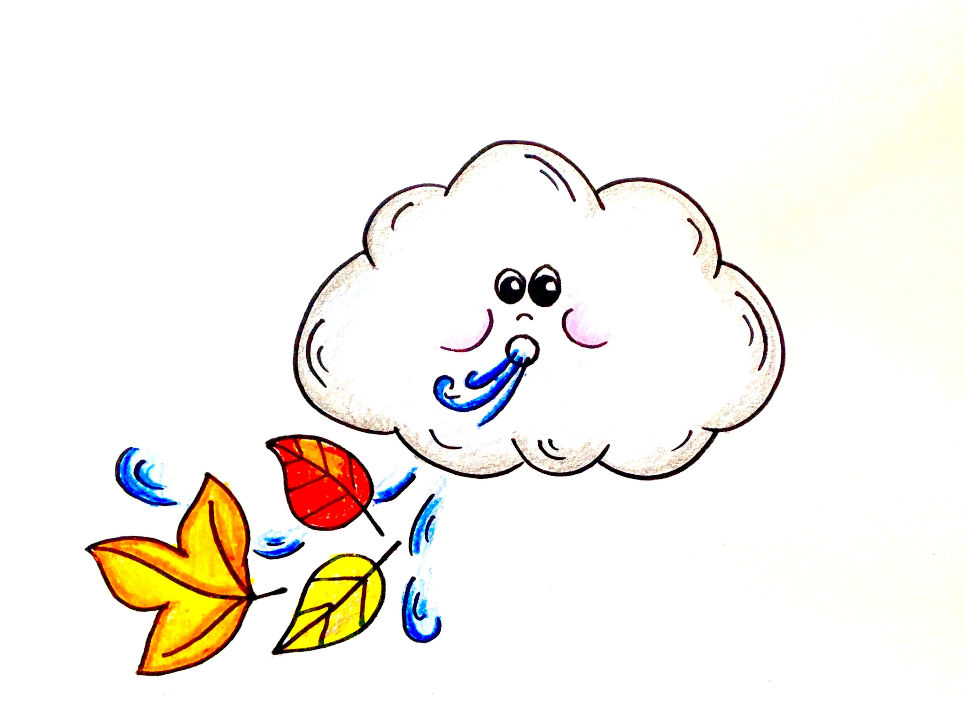 3071x2303 Drawing Lesson How To Draw A Windy Day Cloud