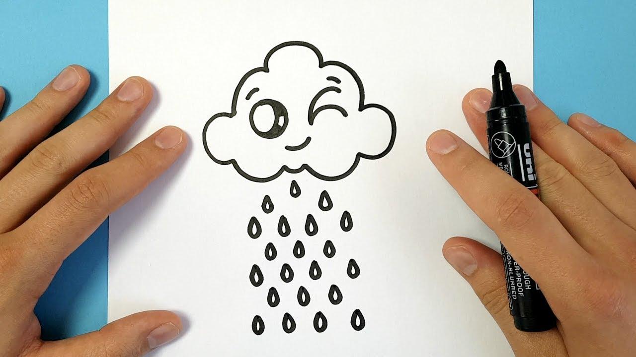 1280x720 How To Draw A Cartoon Cloud Easy
