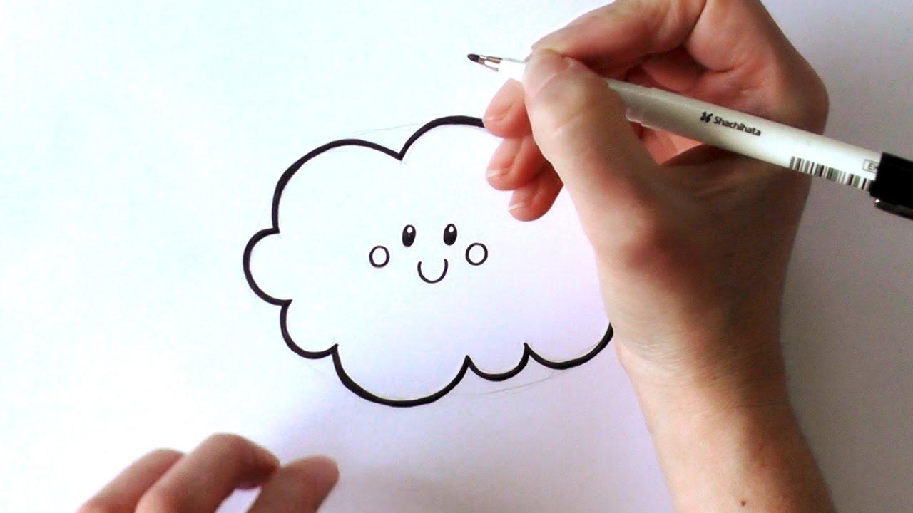 1280x720 How To Draw A Cartoon Cloud