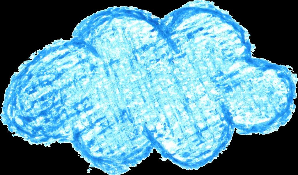 1024x602 6 Crayon Cloud Drawing (Png Transparent)