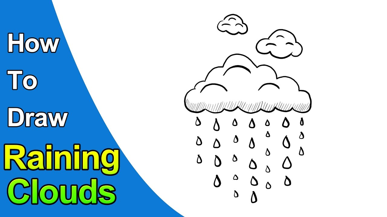 1280x720 How To Draw Clouds Raining Clouds Easy Drawing For Kids