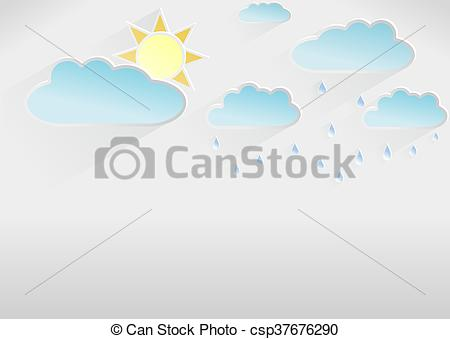 450x339 Weather Template Of Partly Cloudy Day, Light Stock Illustration
