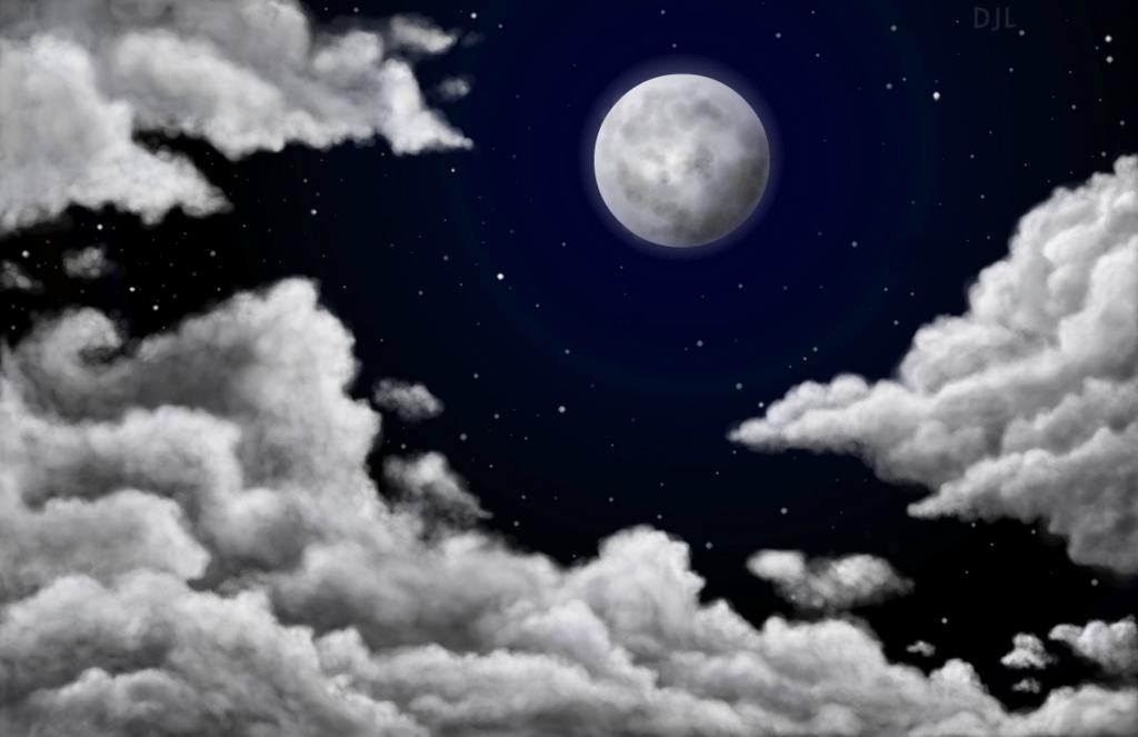 1024x663 Cloudy Night Sky By Xeninx