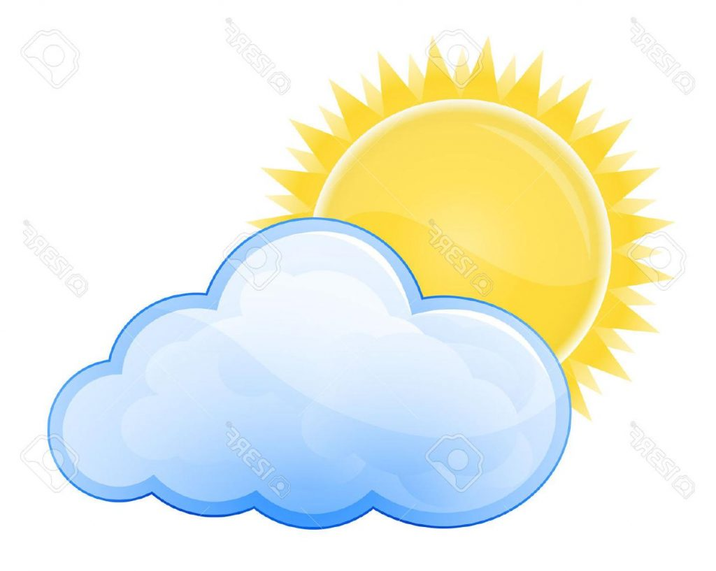 1024x817 Hd Clouds Clipart Partly Cloudy Drawing