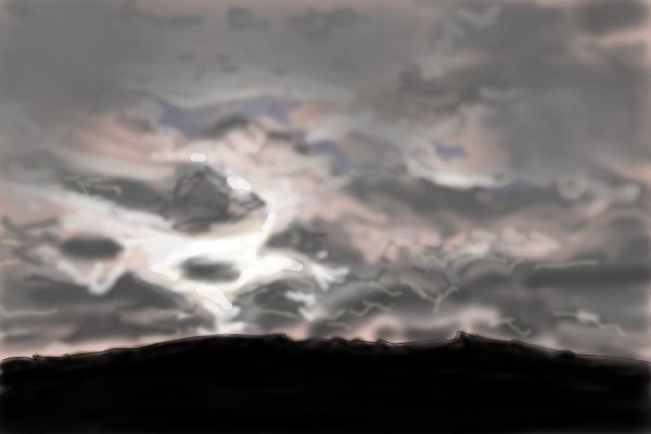 600x400 Some Cloudy Sky A Landscape Speedpaint Drawing By Guyverunit