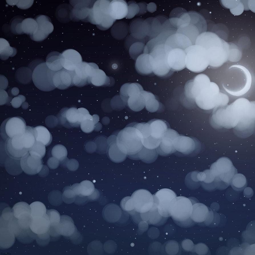 894x894 Cloudy Night Sky By Sagatale