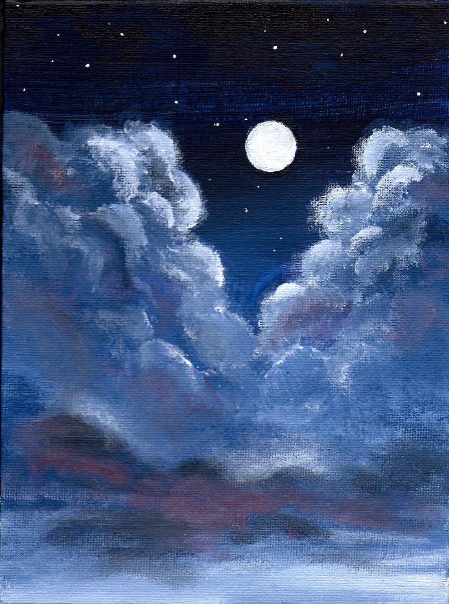 655x881 Cloudy Night Sky By Xsfreak
