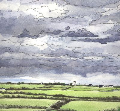 400x371 Shows How She Paints Clouds In Watercolour, With Some