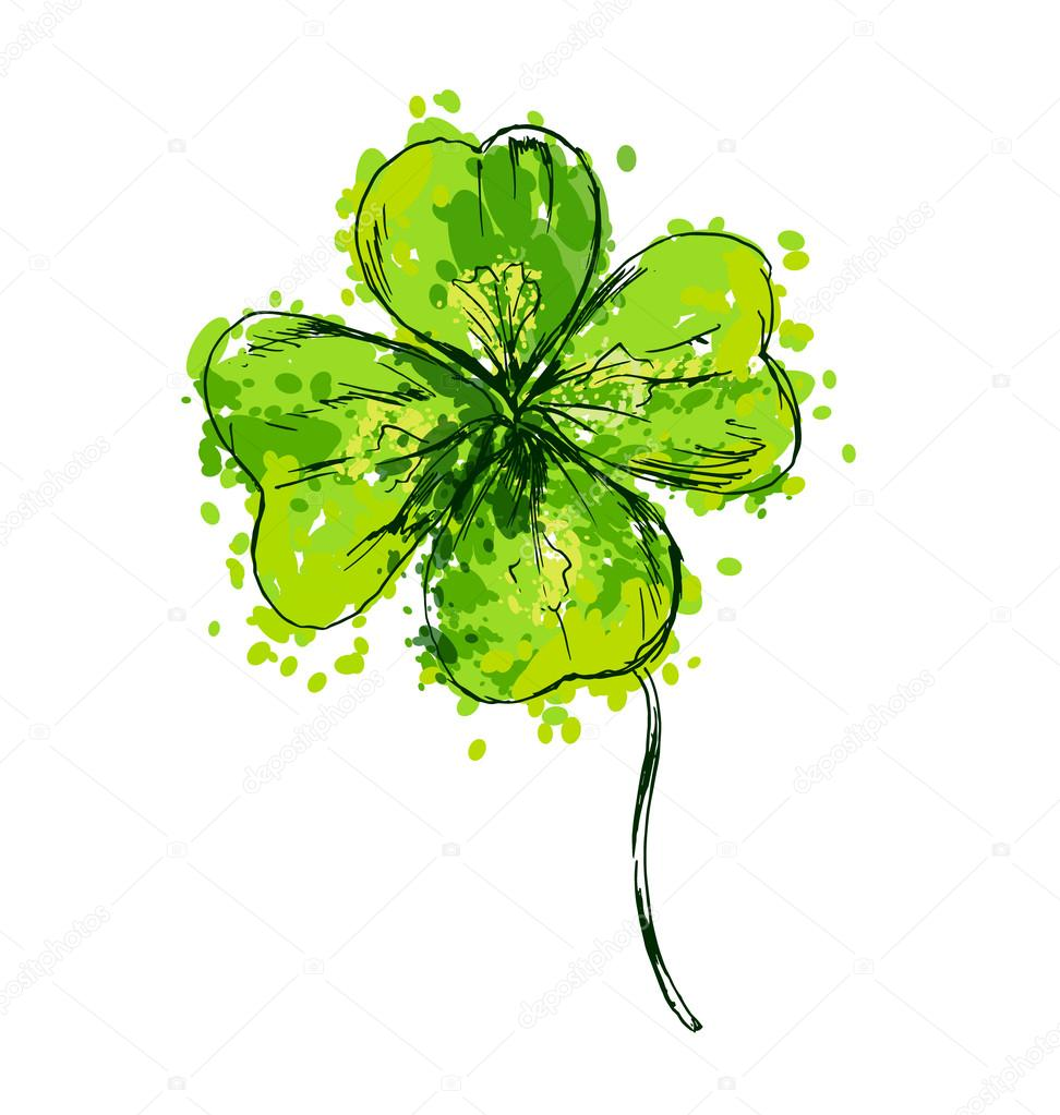 Clover Leaf Drawing At Getdrawings Free Download