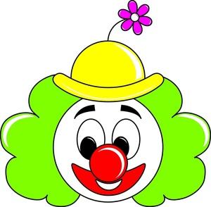 300x294 Circus Clown Clipart Image