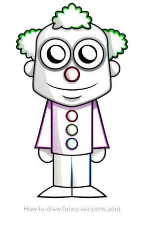 292x459 Clown Drawing (Sketching + Vector)
