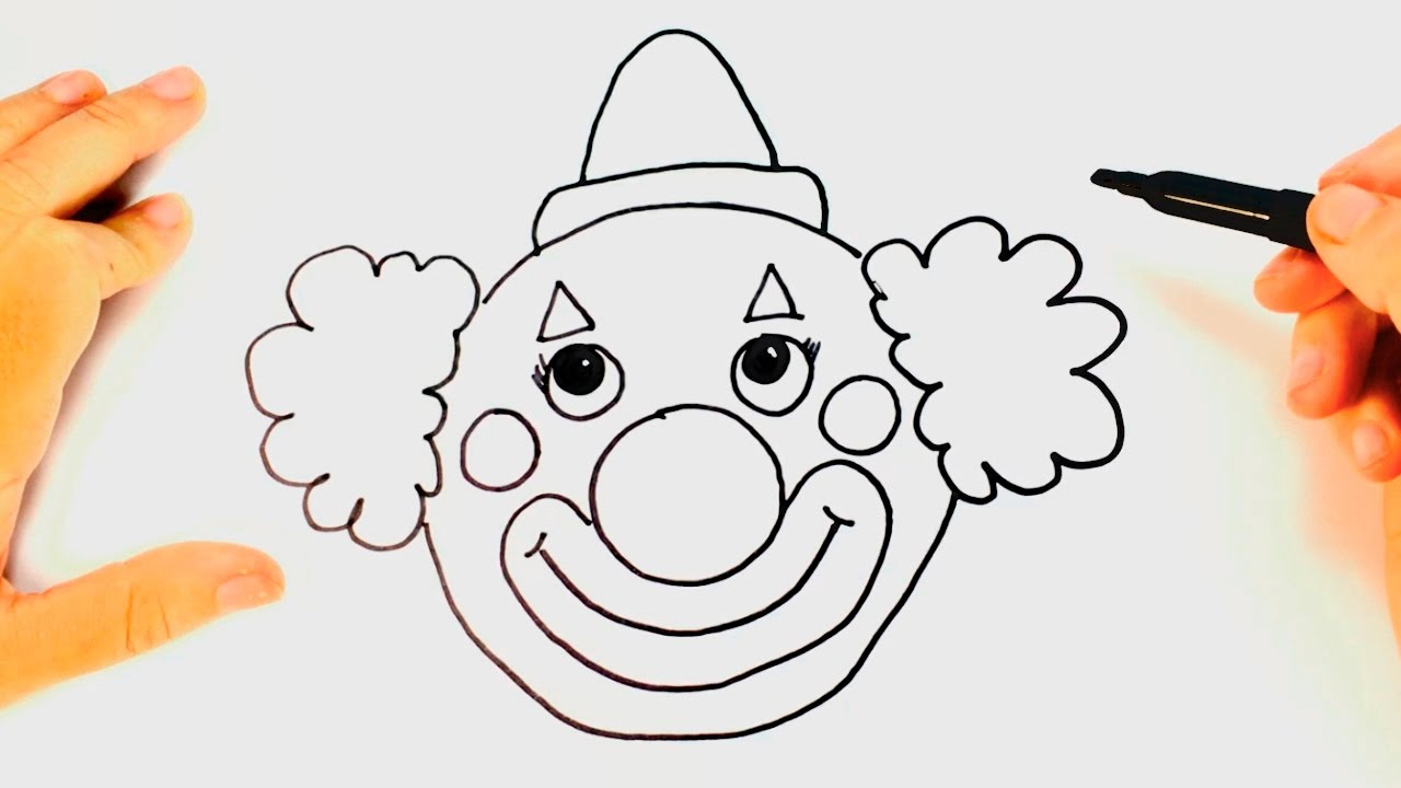 1280x720 How To Draw A Clown For Kids Clown Drawing Lesson Step By Step