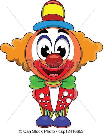 363x470 Vector Illustration Of Cute Clown Cartoon Clipart Vector
