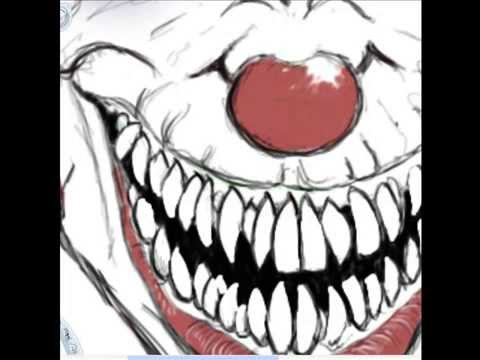 how to draw a evil clown face