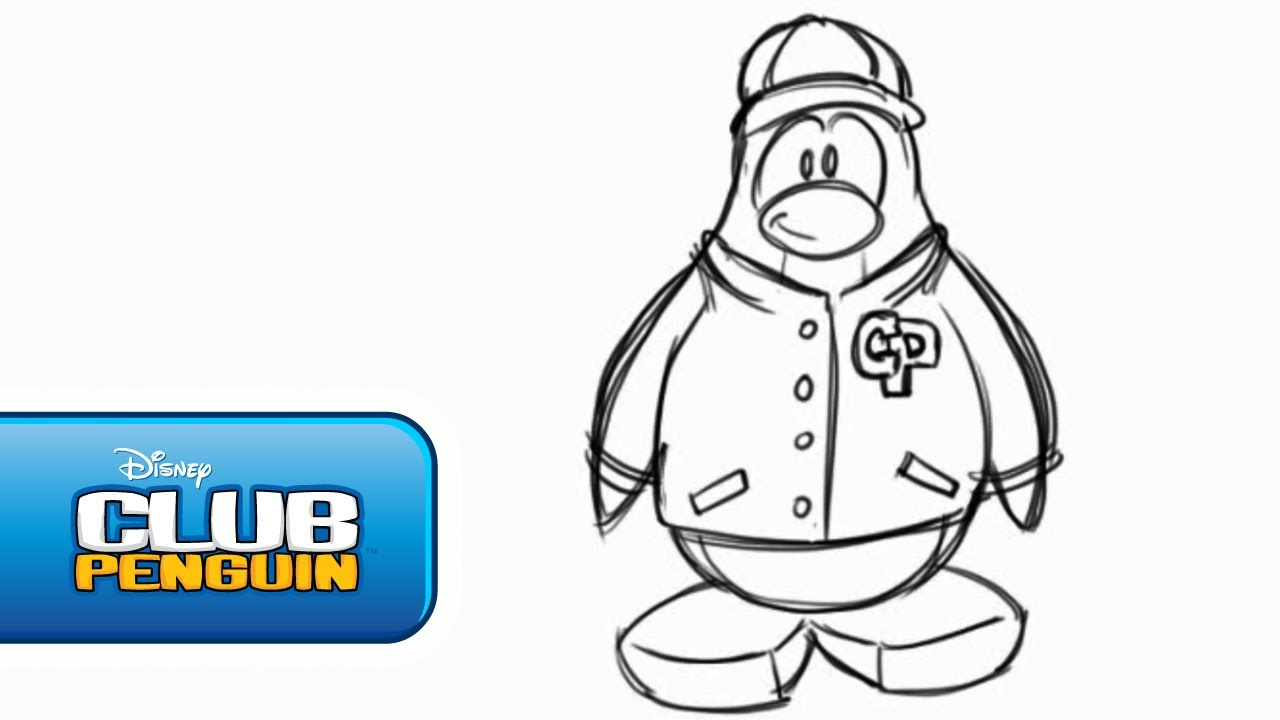 1280x720 Club Penguin How To Draw A Penguin For Billybob's Art Challenge