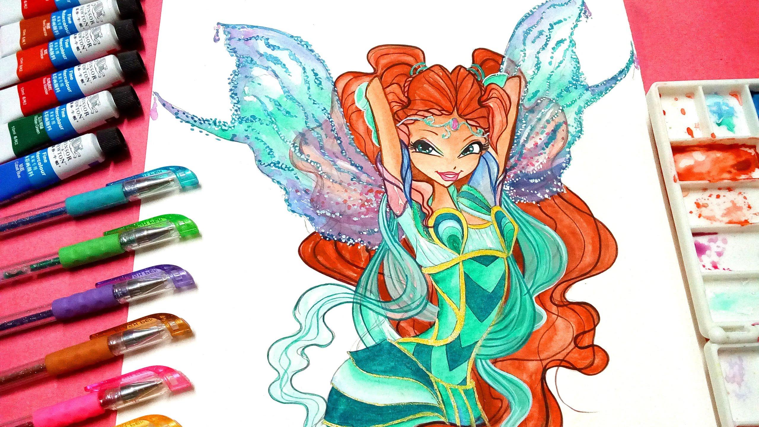 2560x1440 Drawing How To Draw Winx Club Aisha