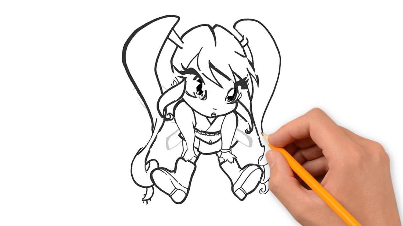 1280x720 Pixie Winx Club Pencil To Draw Step By Step