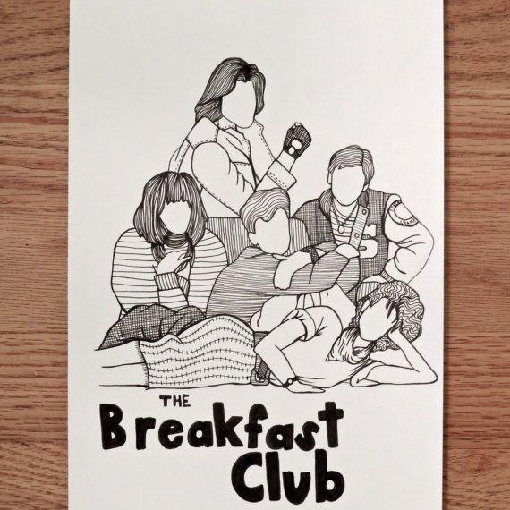 570x570 The Breakfast Club Pen Drawing
