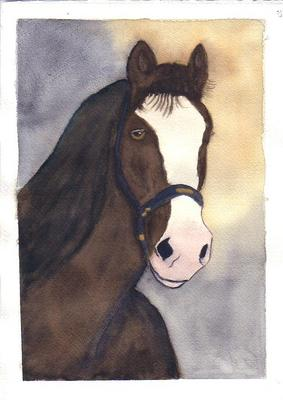 283x400 Head Of A Clydesdale Horse