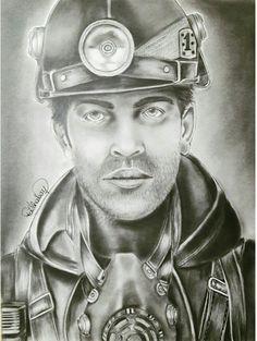 236x313 Advanced Art Charcoal Coal Miner Drawing Student Work Galatia