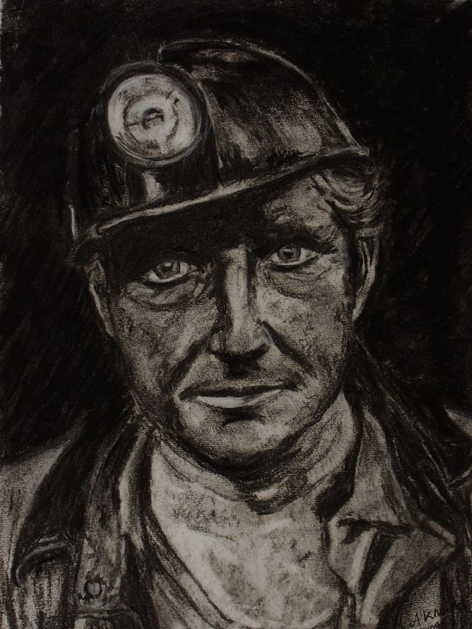 668x890 Coal Miner By Marie Knowles Coal Miner By Marie Knowles