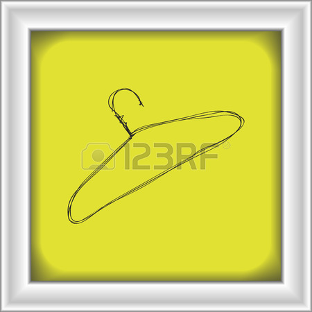 450x450 Simple Hand Drawn Doodle Of A Coat Hanger Royalty Free Cliparts