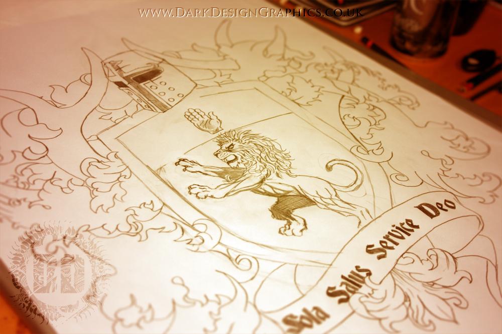 1000x667 Creating A Custom Coat Of Arms Tattoo Design On Behance