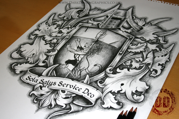 695x463 Family Coat Of Arms Tattoo Design Arm Tattoo, Tattoo Designs