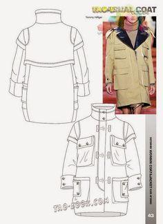 236x324 Parka Jacket Technical Drawing