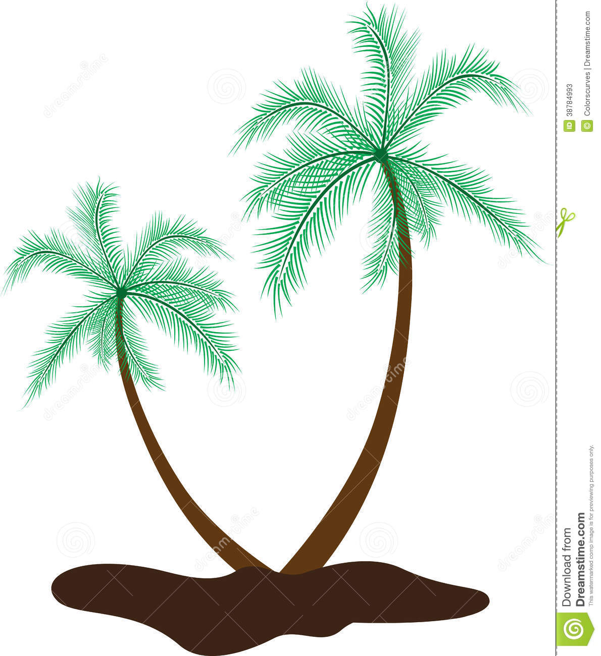 1190x1300 Coconut Tree Drawing Coconut Tree Stock Vector. Image Of Island