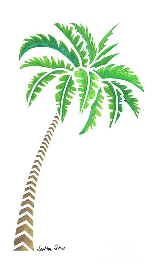 517x900 Tribal Coconut Palm Tree Drawing By Heather Schaefer