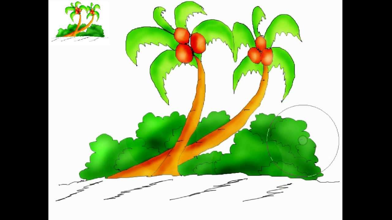 Coconut Tree Pictures Drawing at GetDrawings.com | Free for personal ...