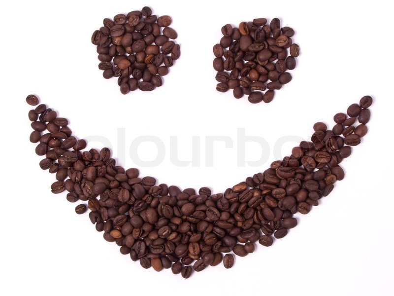 800x600 Coffee Happy Smiley Face Drawing Made Of Beans Isolated On