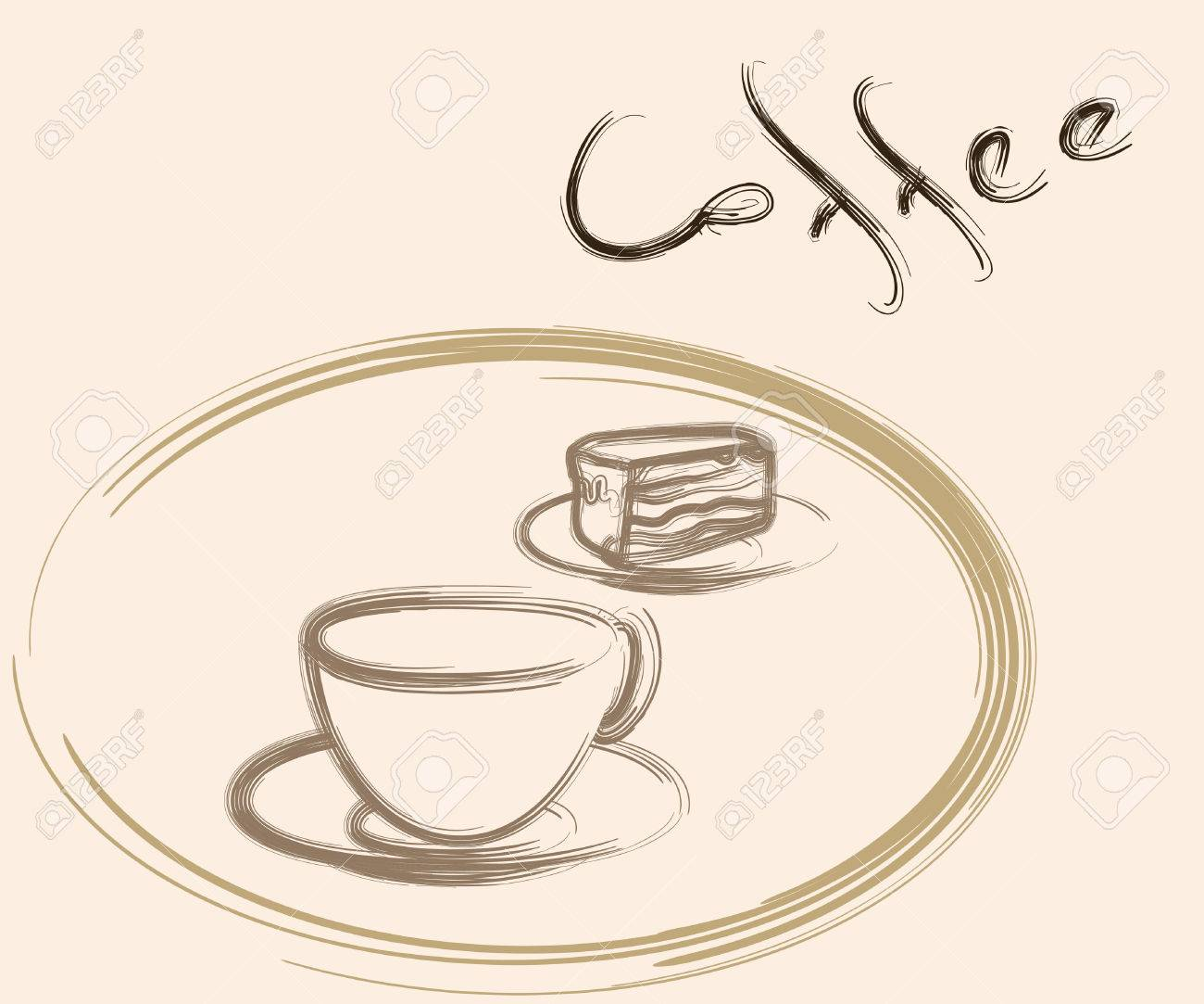 1300x1083 Coffee Cup Cake Drawing Royalty Free Cliparts, Vectors,