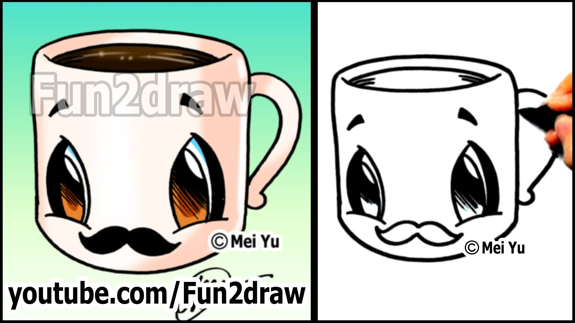 1920x1080 Coffee Cup With Mustache