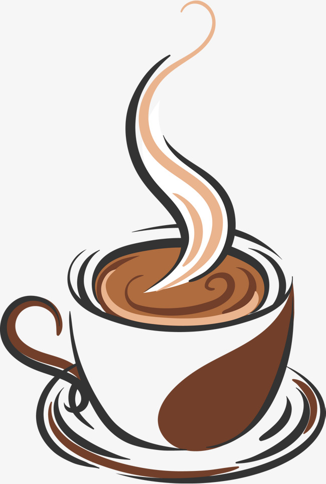 650x965 Hand Drawn Vector A Cup Of Coffee, Coffee, Coffee Brush, Brief