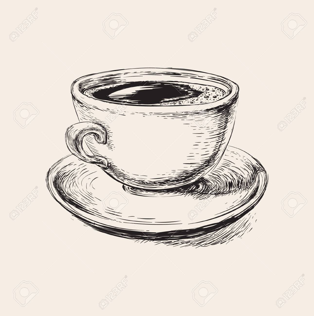 1291x1300 Sketch Coffee Cup Illustration Sketch Coffee Cup Illustration